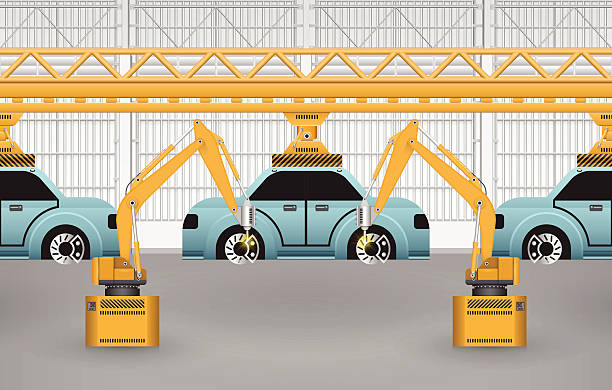 Car Manufacturing Clip Art, Vector Images & Illustrations.
