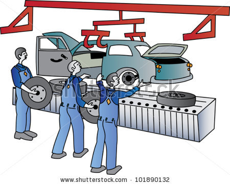 Assembly Line Worker Stock Vectors, Images & Vector Art.