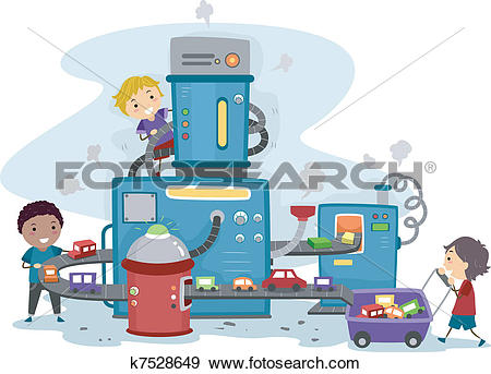 Clip Art of Toy Car Factory k7528649.