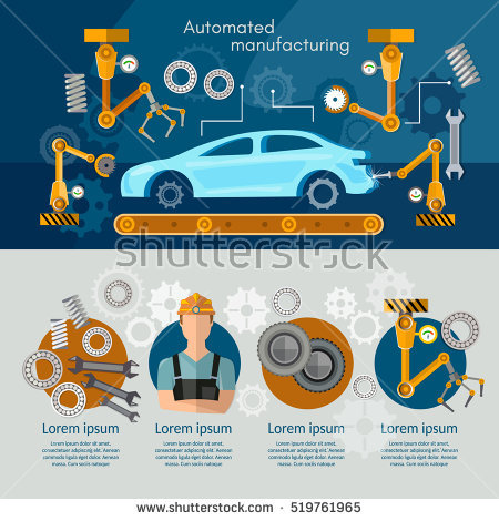 Car Manufacturing Stock Vectors, Images & Vector Art.