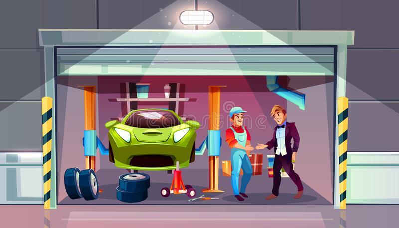 Car Mechanic Stock Illustrations.