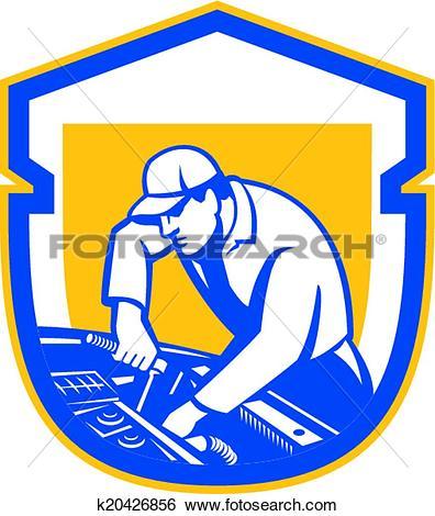 Clipart of Auto Mechanic Automobile Car Repair Retro k18488103.