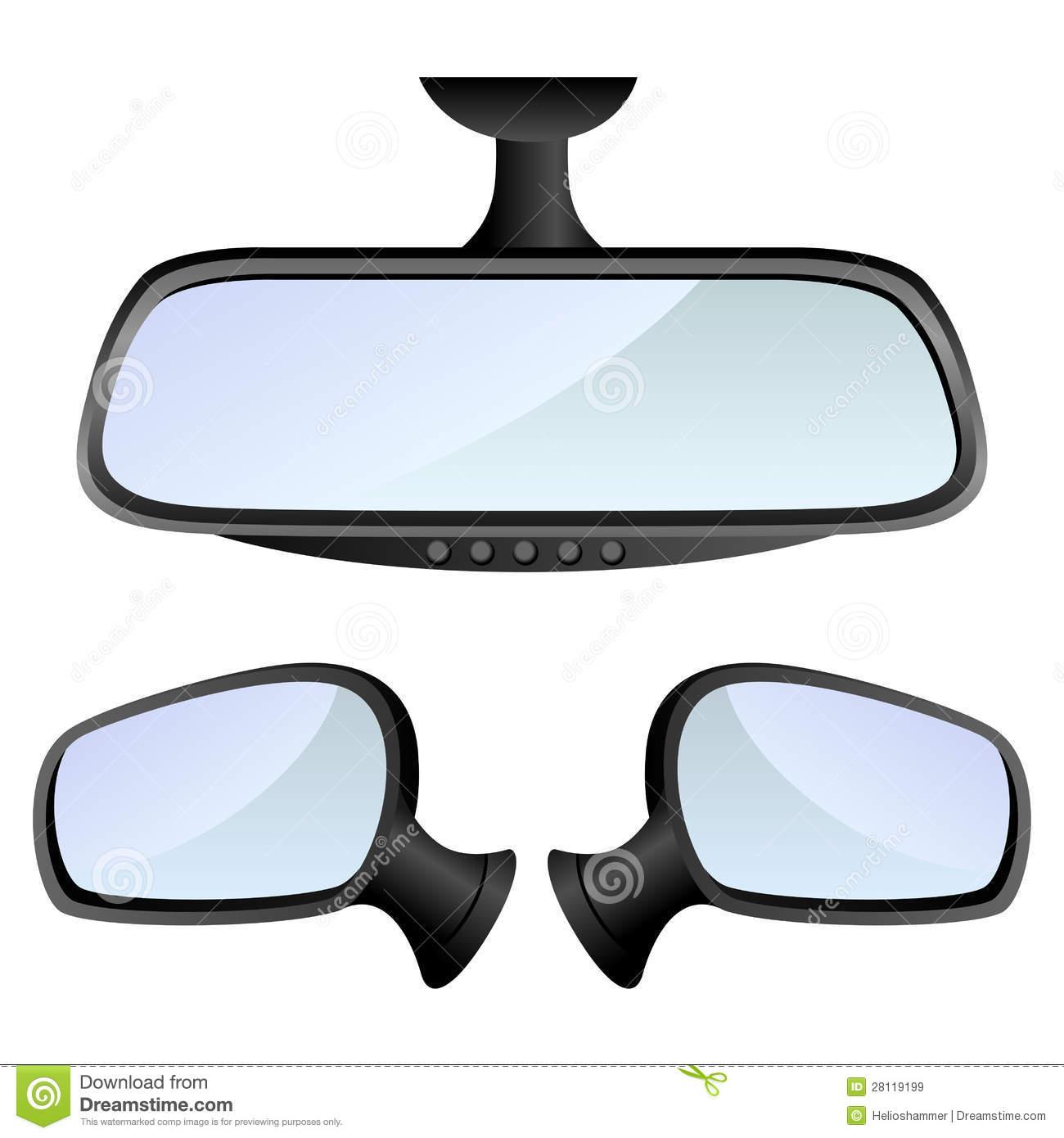 Car mirror clipart.
