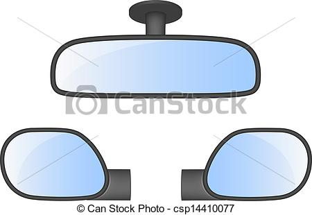 Rearview clipart #11