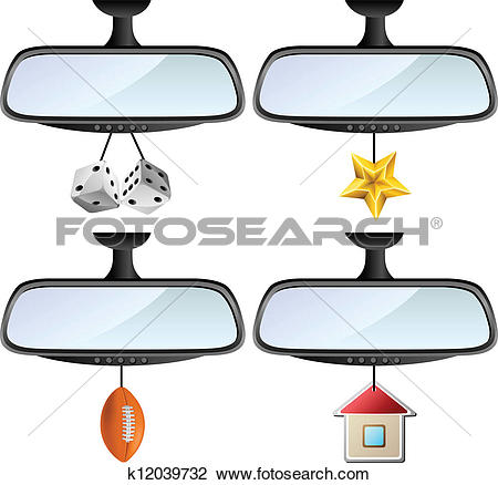 Clipart of Car mirror set k12039732.