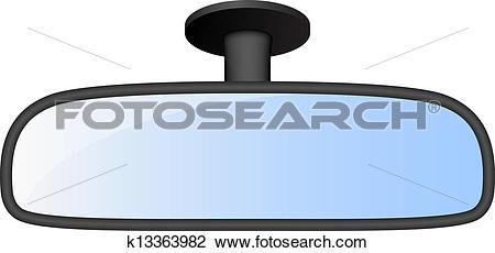 Clipart of Car rear view mirror k13363982.