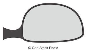 Vector Illustration of Chunky Car Side Mirror.