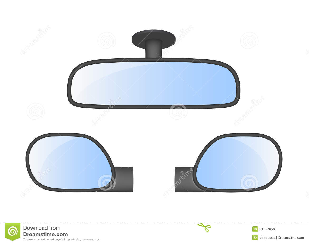 Car mirror clipart.