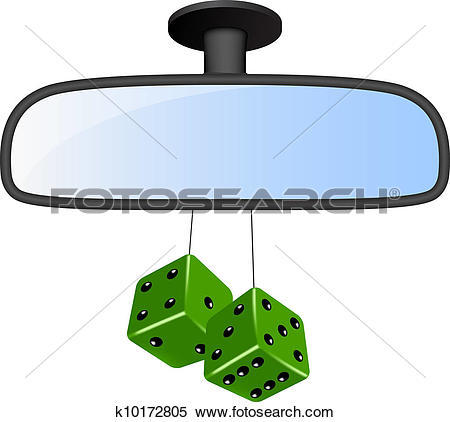 Clipart of Car mirror set k12039732.