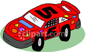 Race Car Numbers Clipart.