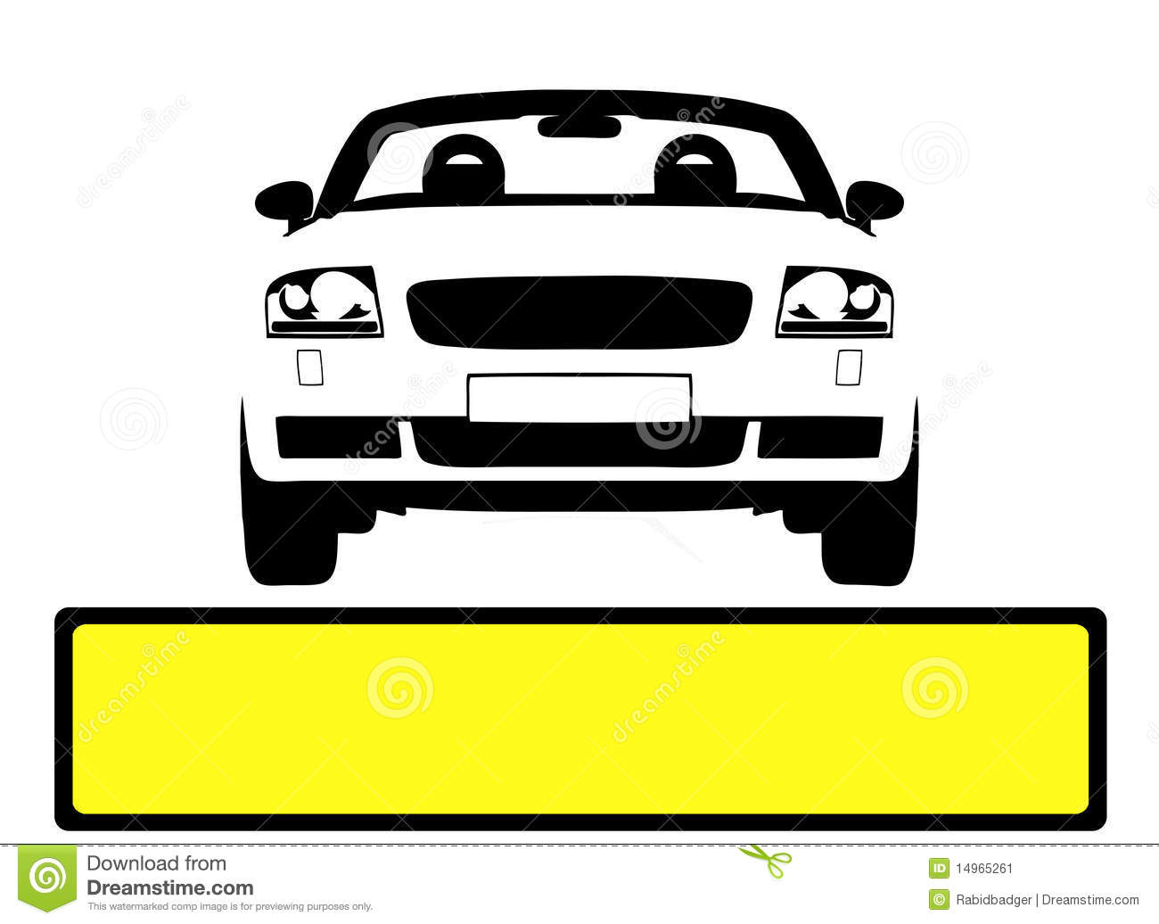 Car Licence Plate Stock Image.