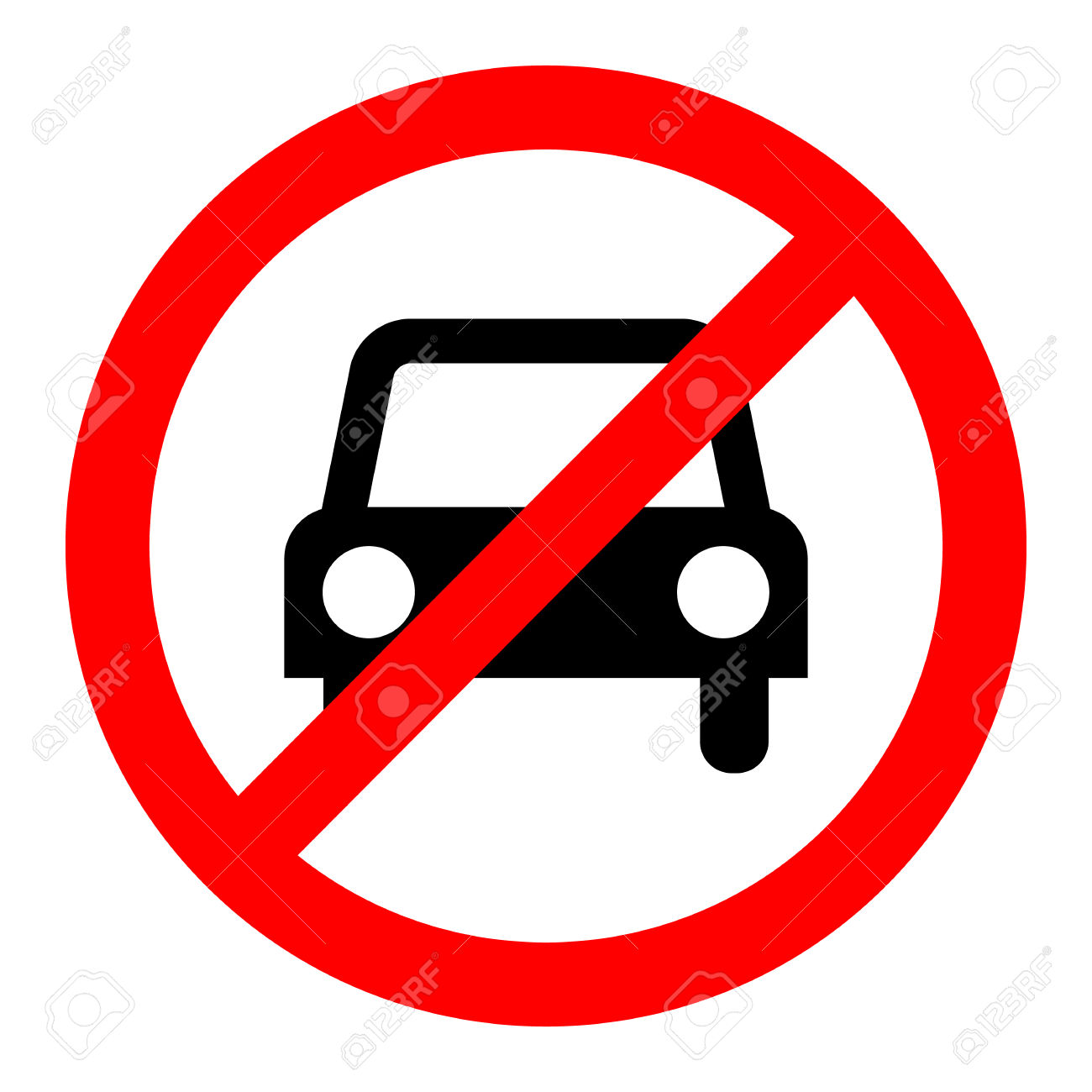 No Car Icon Great For Any Use. Royalty Free Cliparts, Vectors, And.