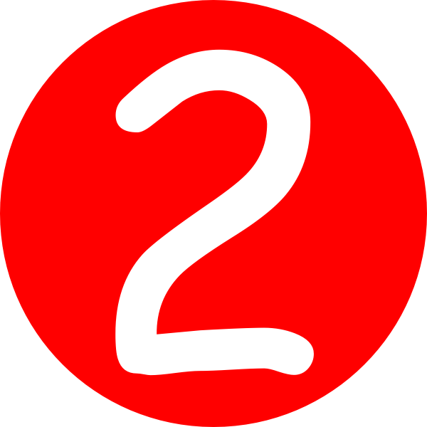 Red Roundedwith Number 2 Clip Art At Clker Com Vector Clip Art.
