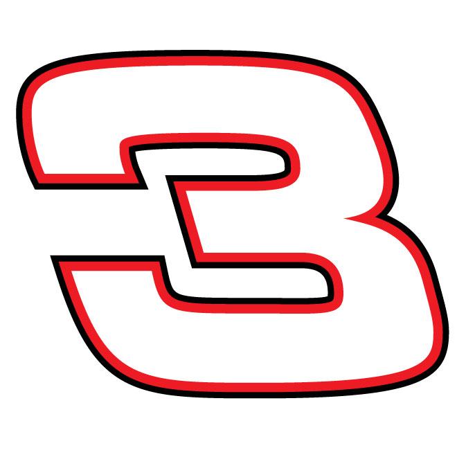 Dale ernhardt 3 racing car clipart.