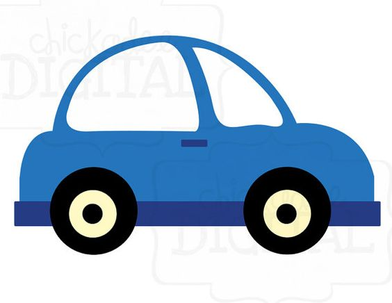 Little Blue Car Clipart.