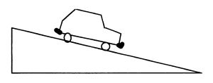 Toy Car Going Down A Ramp Clipart.