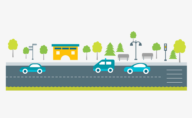 Cars On The Road, Road Vector, Road Clipart, On The Road PNG and.