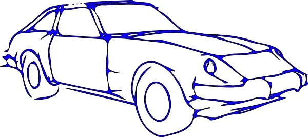 Car Outline clip art Free vector in Open office drawing svg ( .svg.