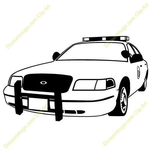 Clipart police car outline.