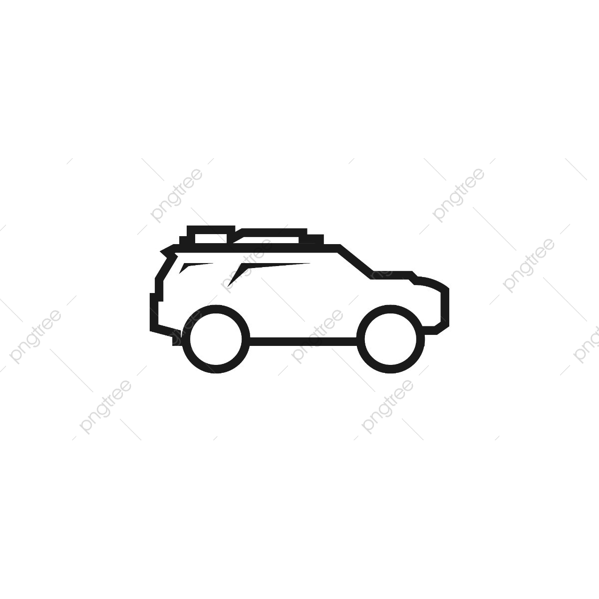 Suv Car Outline Logo Icon Vector Template, Outline, Logo, Suv PNG.
