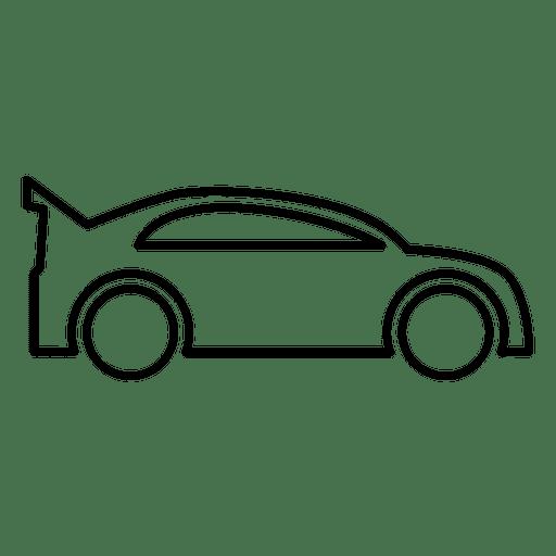 Racing Car Outline.