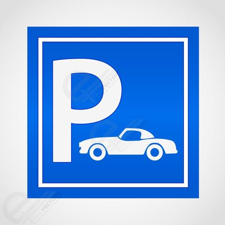 Car parking sign, free vector.
