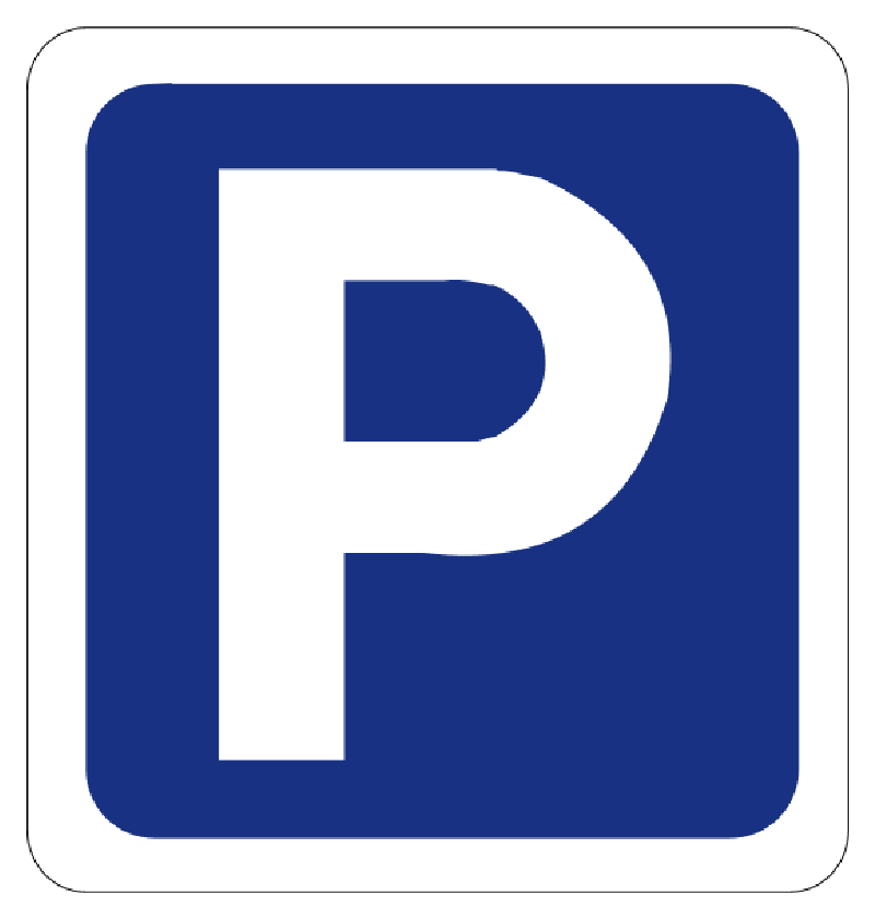 Clipart of car parking signs.