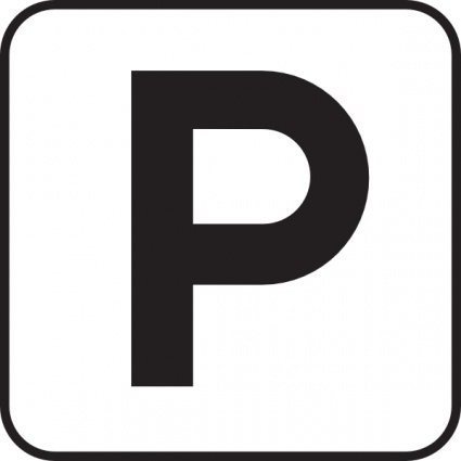 Parking sign clipart.