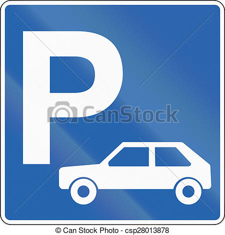 Stock Illustrations of Passenger Car Parking in Iceland.