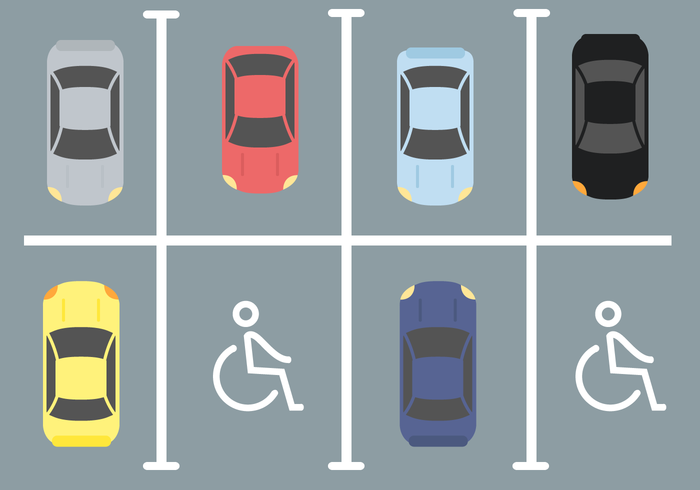 Disabled Car Parking Vector.