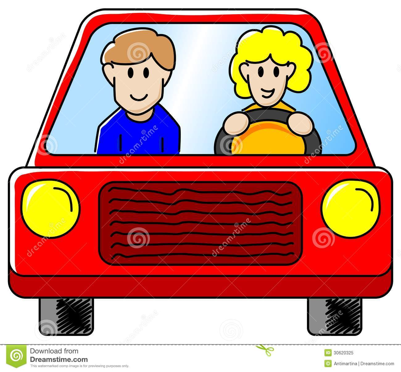 Driving The Car Royalty Free Stock Photo.