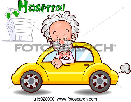 Stock Illustrations of person, car, people, doctor, hospital.