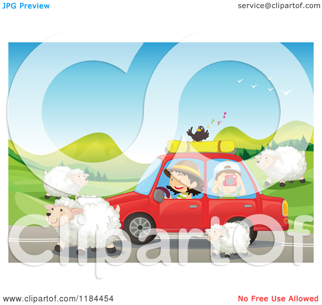 Clipart cars and people.