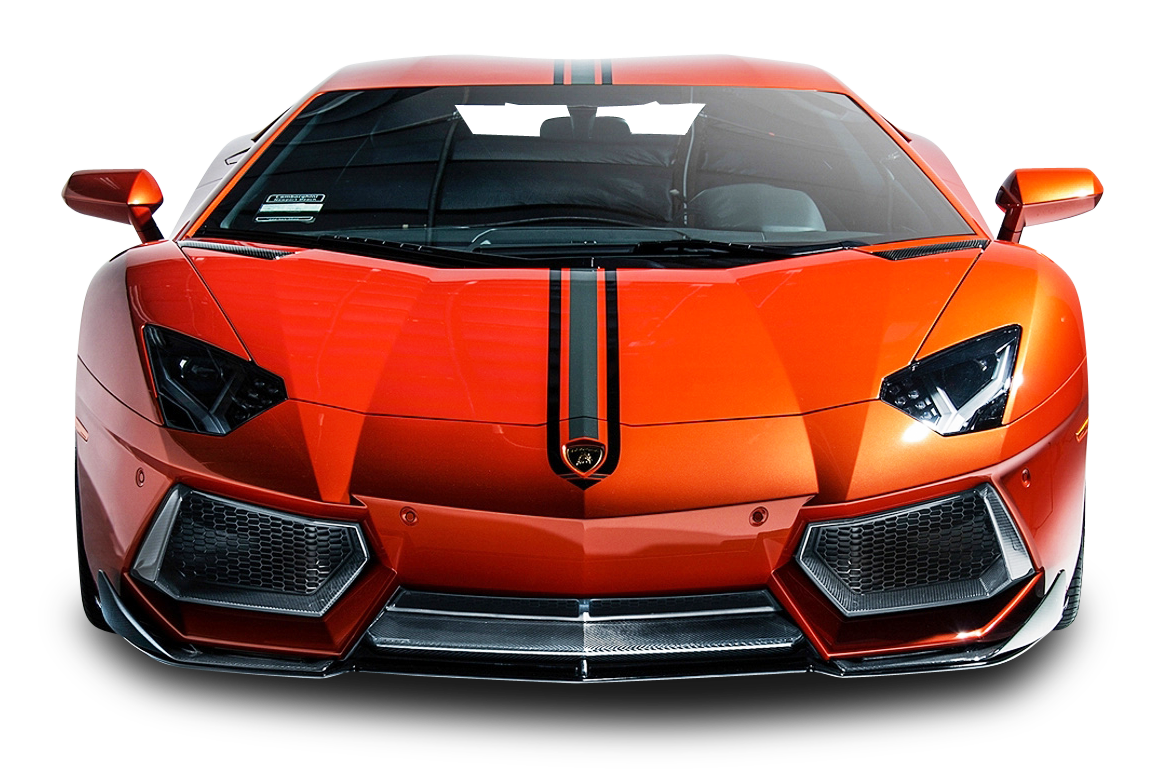 Lamborghini car front transparent png #32714.