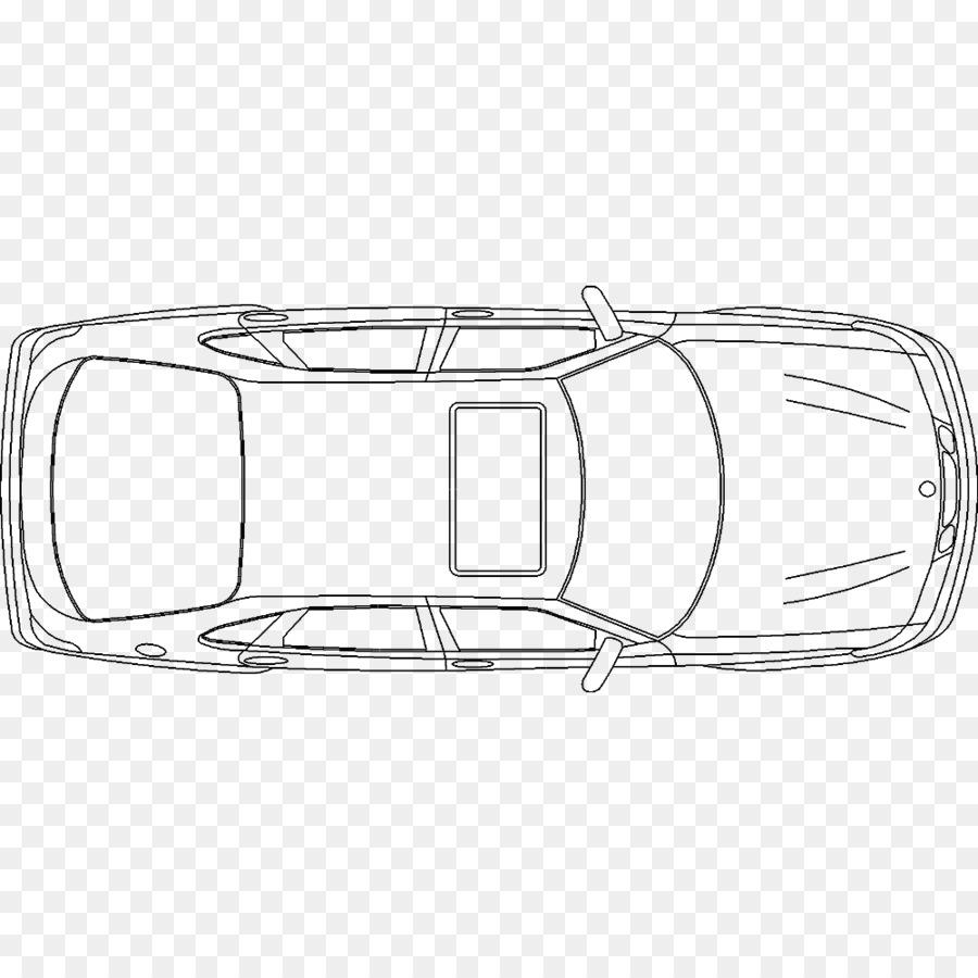 Car Drawing Line Art Plan.