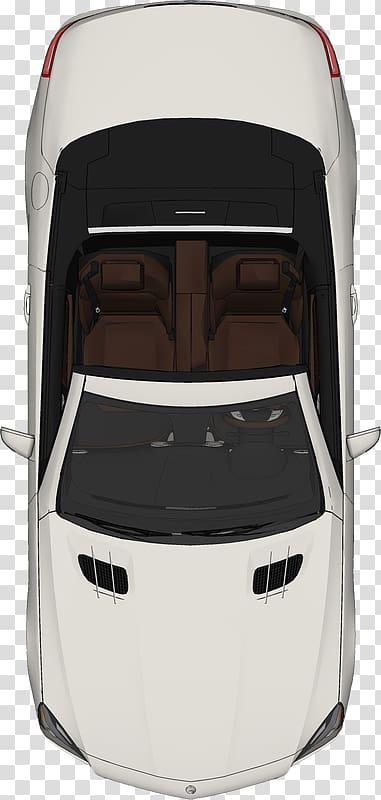 White convertible illustration, Car Plan, car transparent background.