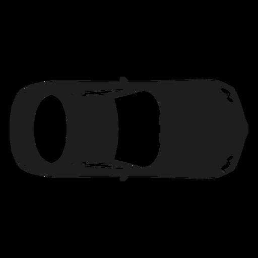 Mercedes car top view silhouette.