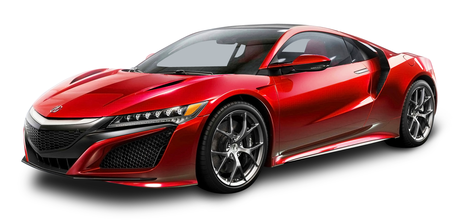 Acura NSX Red Car PNG Image.