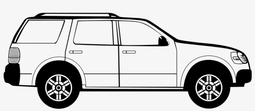 Black And White Car Clipart.