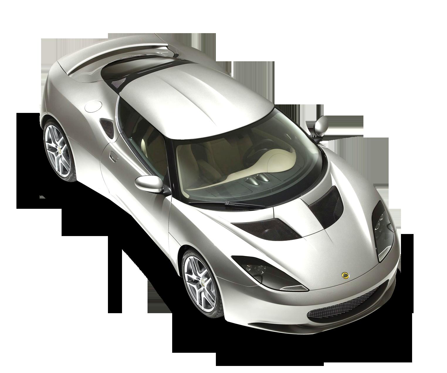 Lotus Evora Top View Car PNG Image.