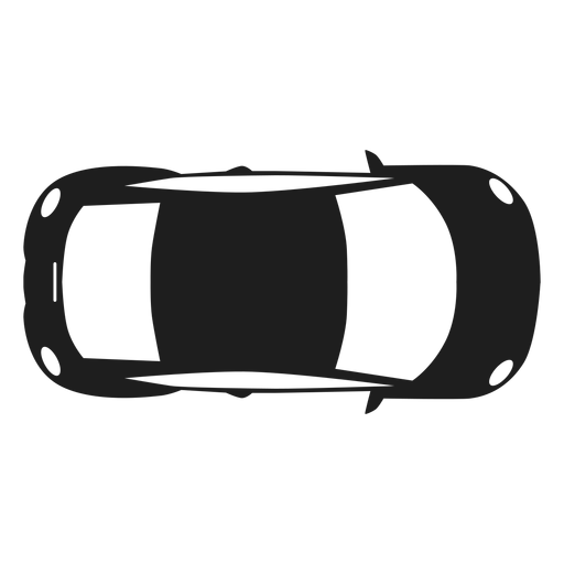 Compact car top view silhouette.