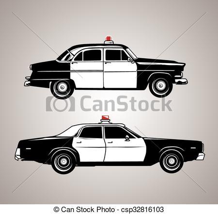 Vintage Police Cars.