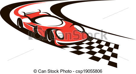Race car finish line clipart.