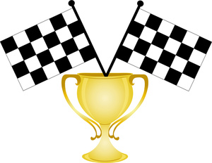 Race car car race trophy clipart.