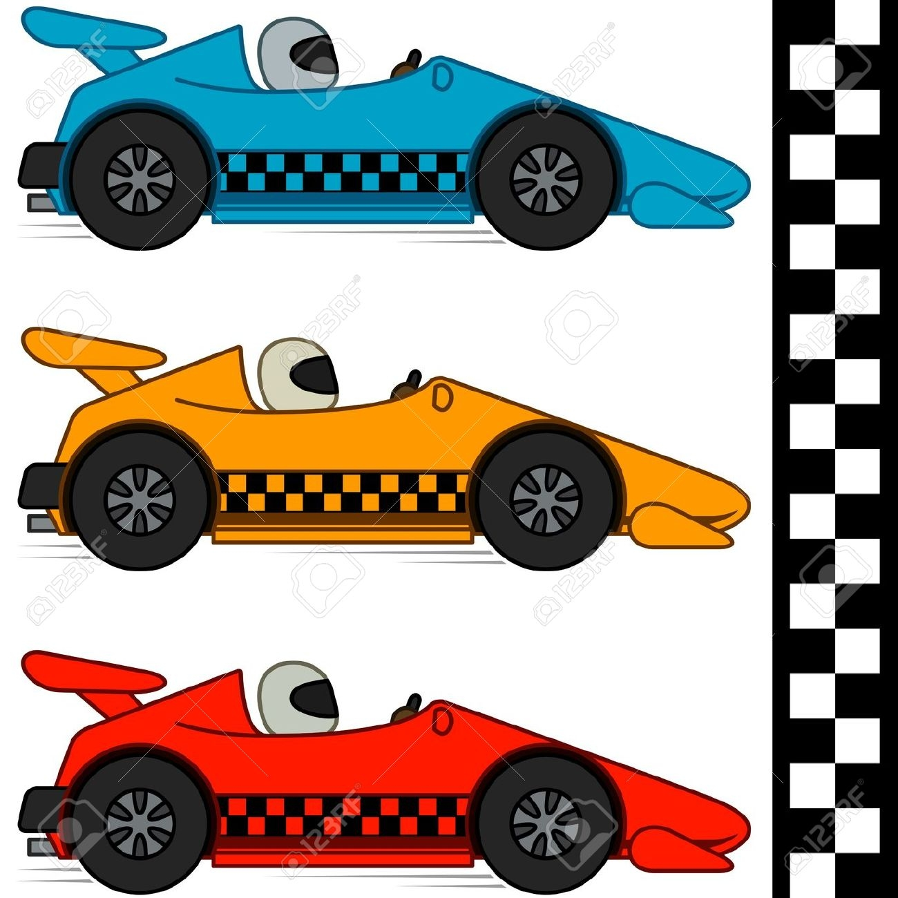 Stock car racing clipart.
