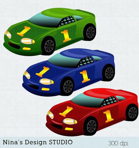 Racing car clip art.