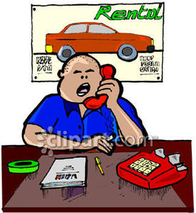 Auto Rental Clipart.