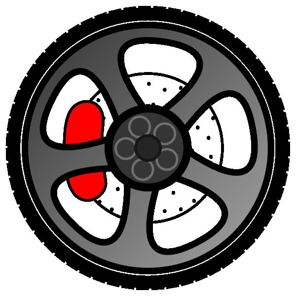 Cartoon Wheels Clipart.