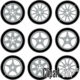 CLIPART CAR WHEELS.