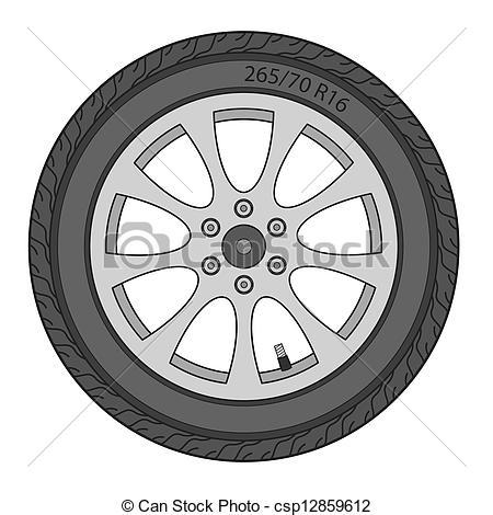 Wheels car clipart.
